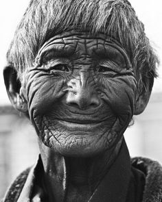 Happy lines-not wrinkles, face, beauty, aged, wrinkles, portrait, beautiful, powerful, a face with many stories to tell, photograph, photo b/w.