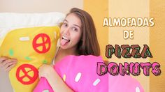 DIY:: Almofadas decorativas, Pizza & Donuts