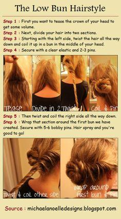 ~DIY The Low Bun Hairstyle~