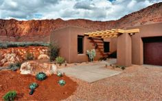casa de barro en el desierto