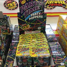Have a fantastic Firework Friday and visit TNTFireworks.com to explore all of our fireworks! #FireworkFriday #TNTFireworks #PartyPoppers