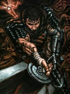 ✭ Berserk: Guts- Don't Make him angry, you won't like him when he's angry. Guts hit with gamma rays equal super hulk