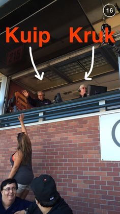 The SF Giants announcers in the booth.
