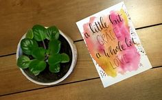 A personal favorite from my Etsy shop https://www.etsy.com/ca/listing/476043735/watercolor-art-a-little-bit-of-grace-a