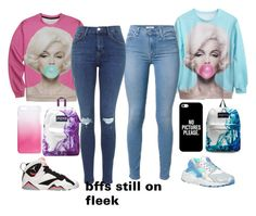 """""""so bad she aint even got to speak�� well she got it from her head to her feet on fleek"""" by bihhhhh ❤ liked on Polyvore featuring NIKE, Retrò, JanSport, Casetify and J.Crew"""
