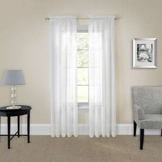 Pairs To Go Victoria Voile Sheer Rod-Pocket Set of 2 Curtain Panel - JCPenney Sheer Curtain Panels, Rod Pocket Curtains, Grommet Curtains, Window Panels, Drapes Curtains, Green Curtains, Curtain Rods, Blackout Drapes, Custom Drapes