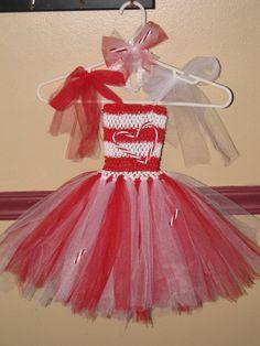 Candy Cane Christmas tutu Dress by GlitterprincessGalor on Etsy, $35.00