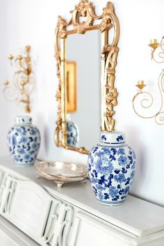 Blue and White Chine