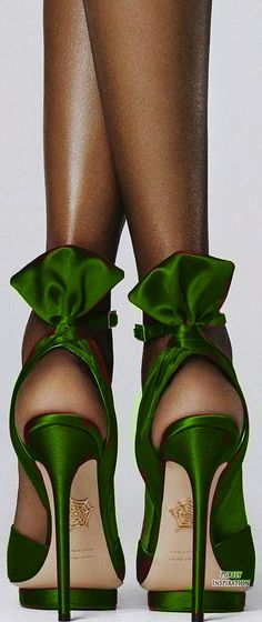 Green - Charlotte Olympia Wallace sandal | Purely Inspiration - http://us.charlotteolympia.com