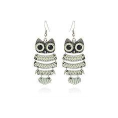 white owl earrings - jewellery - sale - women - River Island Owl Earrings, Crochet Earrings, Drop Earrings, My Wardrobe, Jewellery Sale, Jewelry, River Island, Accessories, Women