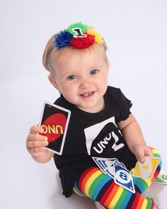 UNO first birthday primary colors striped headband ready to ship FOE newborn..baby..toddler girl on Etsy, $12.00