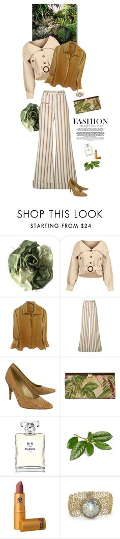 """""""1715"""" by m-lane ❤ liked on Polyvore featuring Lanvin, Rosie Assoulin, Stuart Weitzman, Patricia Nash, Chanel and Lipstick Queen"""