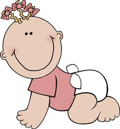 baby clipart girl | Baby Girl Crawling clip art - vector clip art online, royalty free ...