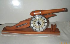 Rare Artillary Cannon Clock by Howard Clock Company - Shop for Antiques, Vintage & Collectibles - The Vintage Village