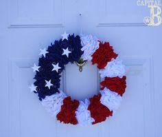 July 4th wreath tutorial. MOPS craft night?