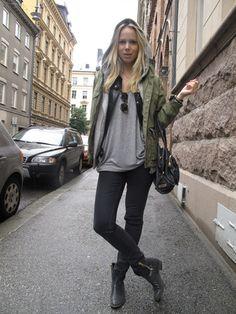 Muotibloggaaja Elin Kling ja Fjällräven Greenland Jacket