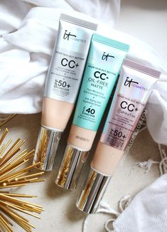 skin care - IT Cosmetics Matte CC Cream How Does it Wear on Dry Skin Drugstore Makeup, Makeup Cosmetics, Makeup Tips, Kylie Makeup, Makeup Ideas, Cc Cream Review, Bb Cream For Oily Skin, Sephora, Cc Creme
