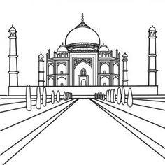 how to draw the taj mahal step 6