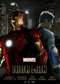 Iron man film afiş tasarımı