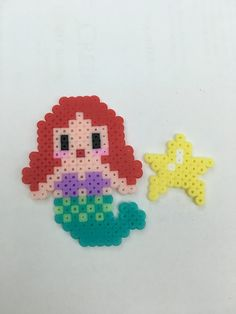 Hama beads disney princess my little mermaid