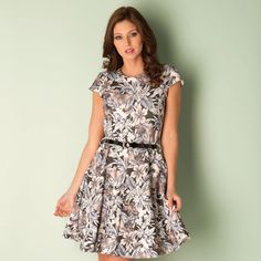 Dresses | Multi colour Womens Floral Print Skater Dress | Get The label