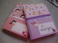 Cadernos forrados em tecido