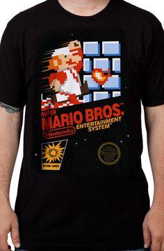 Cartridge Art Super Mario Brothers T-Shirt: Nintendo Shirts