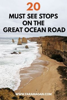 Great Ocean Road Itinerary: 20 Stops, Map & Campsites The Great Ocean Road in Australia is one of the most famous road trips in the world. This is the complete Great Ocean Road itinerary including where to stay, eat stop & wildlife spot along the way! Brisbane, Sydney, Travel Guides, Travel Tips, Travel Destinations, Travel Goals, Holiday Destinations, Travel 2017, Rv Travel