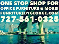 One Stop Shop For Office Furniture & More! Experience the vast selection of excellent new and used office furniture and specialty services at Furniture by George! Call us today at 727-561-0325! http://furniturebygeorge.com  #onestopshop #shopping #furniture #office #business #tampa #clearwater #stpetersburg #florida #design #businessowner #sale