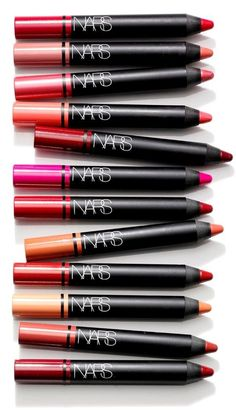 Fabulous lip pencil colors ranging from shades of pink, to deep Merlot red. Can't wait to choose my shade and complete my festive holiday look.