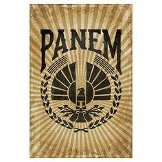 Vintage Panem Hunger Games Wall Art Poster