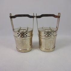 Pair of Sterling Silver Japanese Figural Salt and Pepper Shakers, Circa 1946 (#1778)