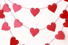 Valentines Day Decor Valentine Garland Wedding by MailboxHappiness