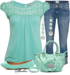 Love top style color, shoes with jeans