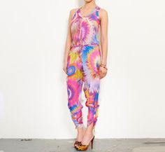 Matthew Williamson Pink, Purple, Blue And Multicolor Jumpsuit
