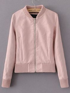 Shop Pink Stand Collar Zipper Crop Jacket online. SheIn offers Pink Stand Collar Zipper Crop Jacket & more to fit your fashionable needs.