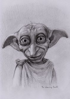By thedrawinghands.deviantart.com. Dobby the House Elf from Harry Potter.