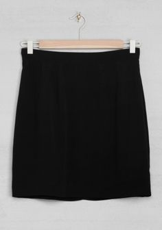 And Other Stories | Viscose mini skirt | Black