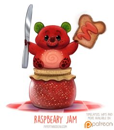 Daily+Paint+1516.+Raspbeary+Jam+by+Cryptid-Creations.deviantart.com+on+@DeviantArt