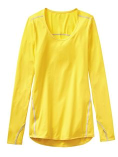 Athleta Womens Taped Chi Top Extra Long Size XL - Electric yellow | 50% OFF