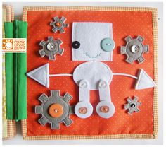 book idea, craft books, quiet books, book pages, busi book, robot, orang craft