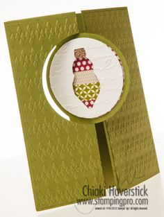 Holiday Ornament Thinlit Card - StampingPro.com
