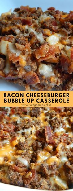 Bacon Cheeseburger Bubble Up Casserole #maindish #bacon #cheeseburger #bubbleup #casserole