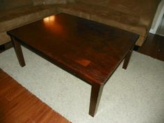 http://mobile.craigslist.org/fuo/4220357252.html  Solid wood coffee table.  Can be refinished.  $49