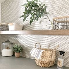 9 clever ways to cost-effectively upgrade your laundry room, # upgrade . - 9 clever ways to inexpensively upgrade your laundry room, # upgrade # cost - Laundry Room Tile, Laundry Decor, Room Tiles, Wall Tiles, Ikea Laundry, Laundry Room Baskets, Garage Laundry, Cement Tiles, Mosaic Tiles