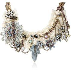 "Betsey Johnson ""Girlie Grunge"" Lace Multi-Charm Necklace, 20"""