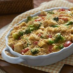 Cheddar Broccoli & Chicken Casserole    This casserole is perfect for a mid-week meal.