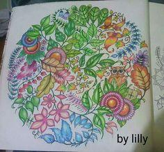 Floresta encantada mandala  Floresta encantada mandala coruja    #florestaencantada