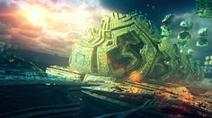 You start to ascend. Before you leave for good, you take one last flight over your civilization. But everything looks different now. rendered in Mandelbulb3D music: Eric Serra - Feel the Breath