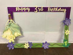 5th Birthday Party Ideas, First Birthday Parties, 2nd Birthday, Princesa Tiana, Disney Princess Birthday, Tangled Princess, Princess Merida, Party Frame, Birthday Frames